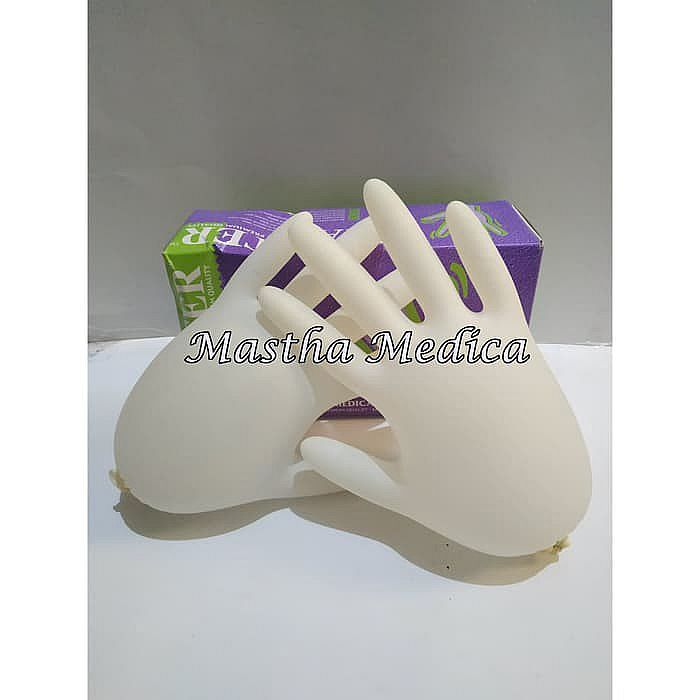 Sarung Tangan Latex Karet / Handscoon / Examination Gloves Maxter