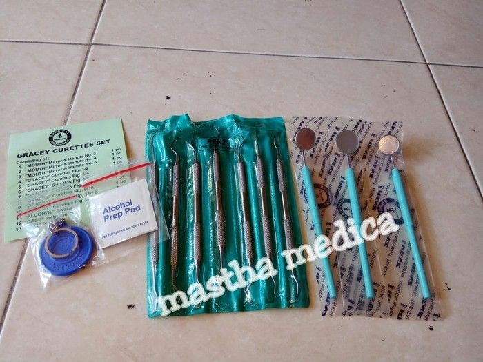 curettes / kuret / curet / kuretase gigi set gracey dental renz