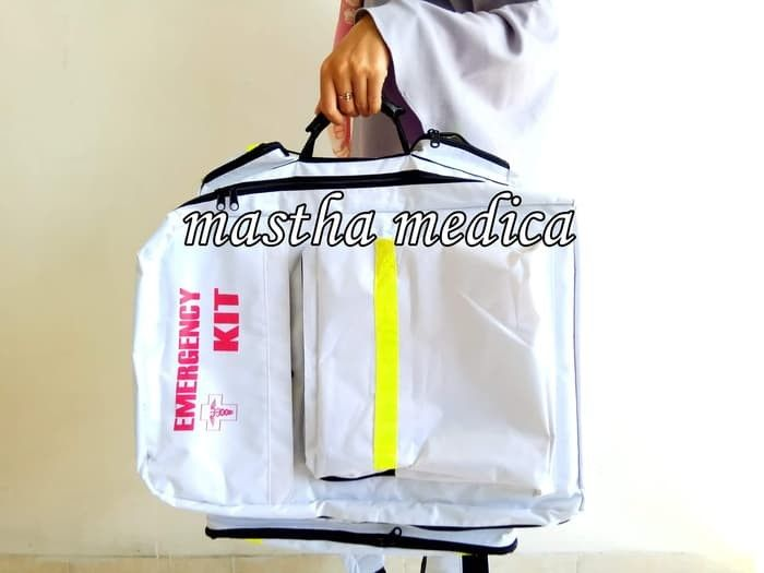 Tas Ransel Emergency Kit P3k First Aid Bag Putih