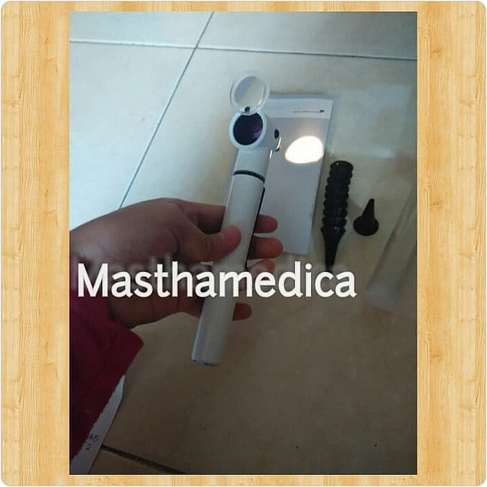Otoscope / Otoskop THT Telingga Hidung Riester e - Scope White / Putih