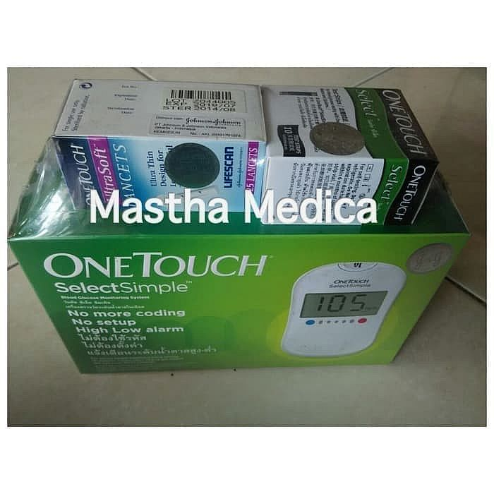 Paket Alat Test Gula Darah OneTouch Select + Strip 1 Tube isi 25 pcs