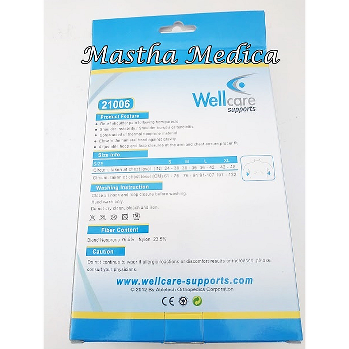 Korset Bahu Penyangga Lengan Shoulder Support 21006 Wellcare